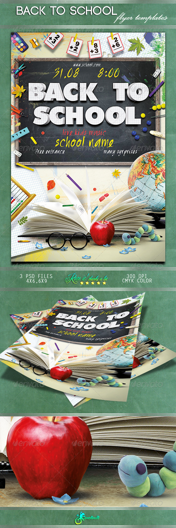 GraphicRiver Back To School Flyer 8597077