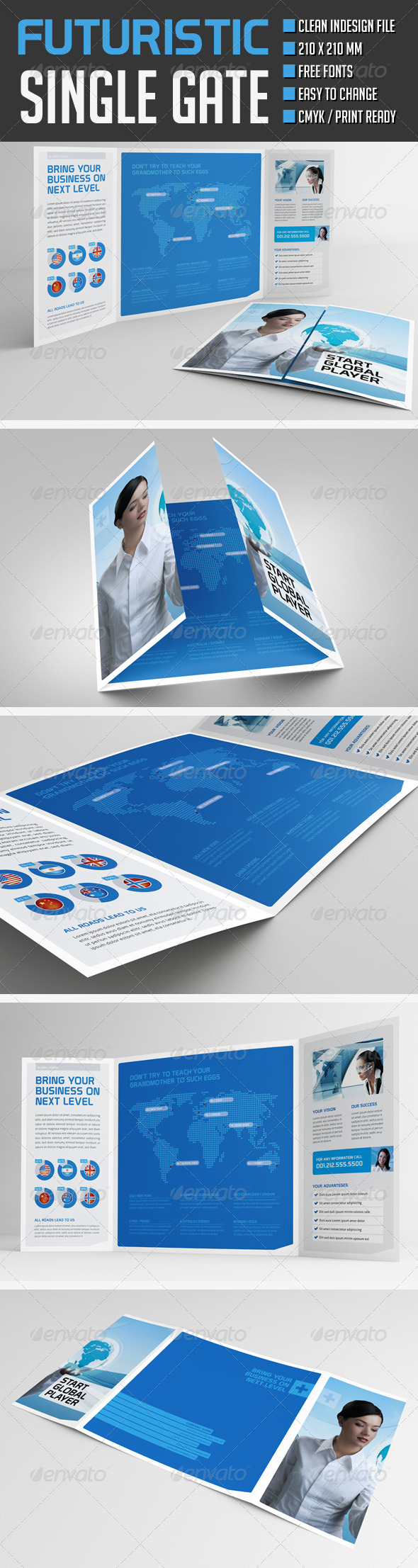 GraphicRiver Futuristic Gate Fold Flyer 8597139