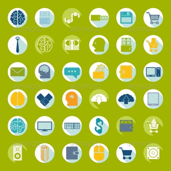 GraphicRiver Set of Flat Icons 8597157
