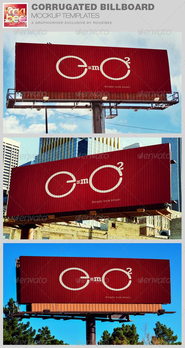 GraphicRiver Corrugated Billboard Mockup Template 8597223
