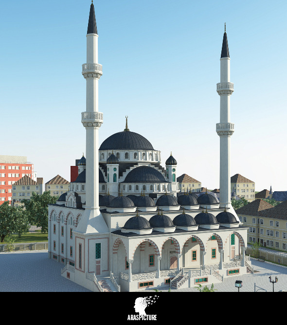 3d mosque model - 3DOcean Item for Sale