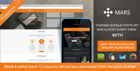 ThemeForest Mars Responsive Email Template With Builder 8588043