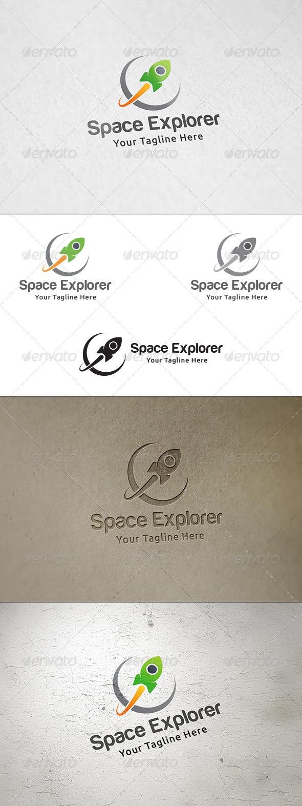 GraphicRiver Space Explorer Logo Template 8597377