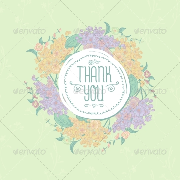 GraphicRiver Vintage Greeting Card with Flowers 8597402