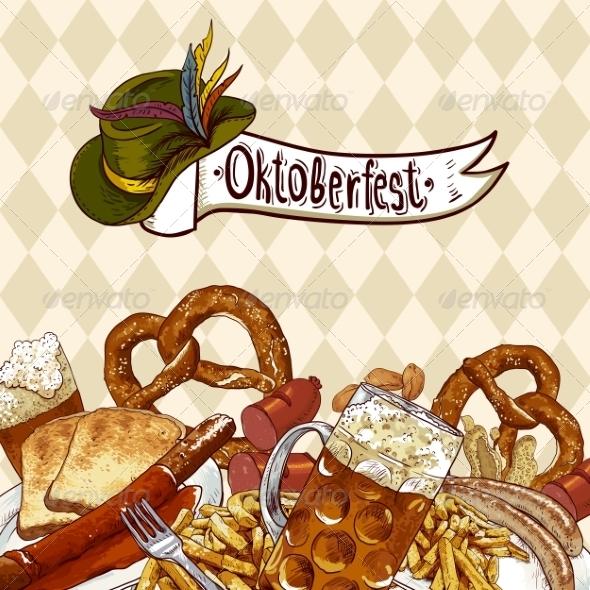 GraphicRiver Oktoberfest Celebration Design with Beer 8597407