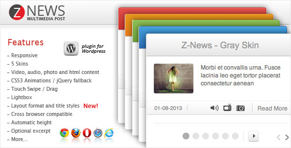 Z-News Multimedia Post - Wordpress Plugin - CodeCanyon Item for Sale