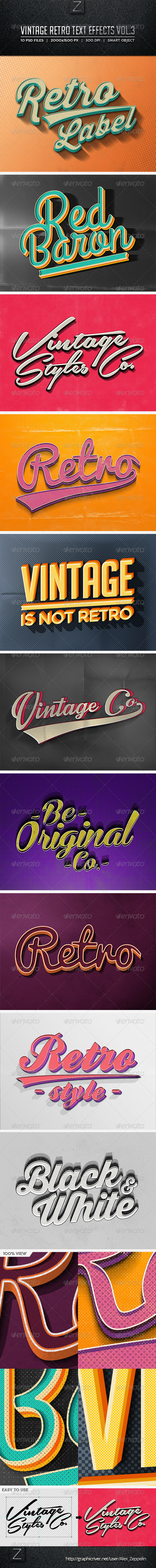 GraphicRiver Vintage Text Effects Vol.3 8597636