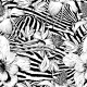 Monochrome Seamless Vintage Flower Pattern - GraphicRiver Item for Sale
