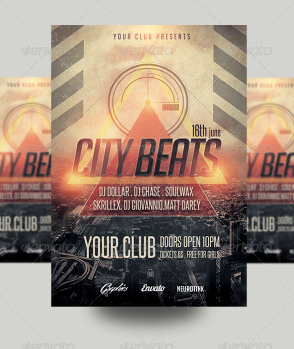 GraphicRiver City Beat Flyer 8597643