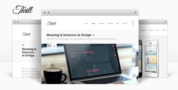 ThemeForest Thrill One Page WordPress Theme 8597696