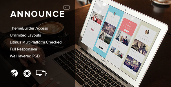 ThemeForest Announce Responsive Emails & Themebuilder Access 8587347