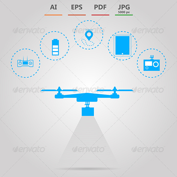GraphicRiver Illustration for Quadrocopter Monitoring 8597707