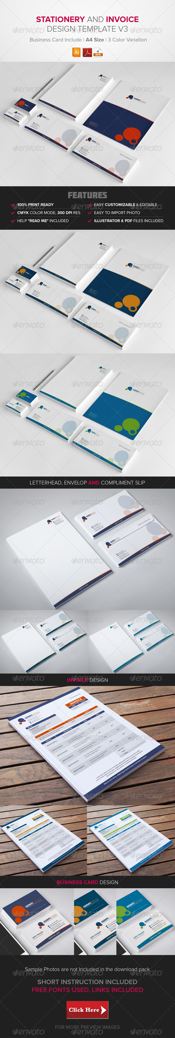 GraphicRiver Stationery & Invoice Design Template v3 8592424
