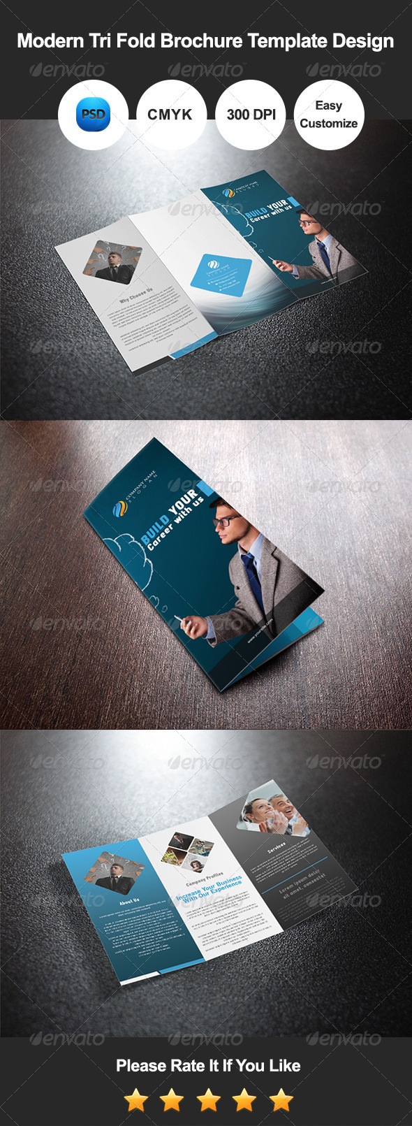GraphicRiver Modern Tri Fold Brochure Template Design 8597922