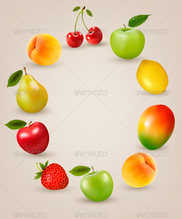 GraphicRiver Set of Healthy Fruit 8597927