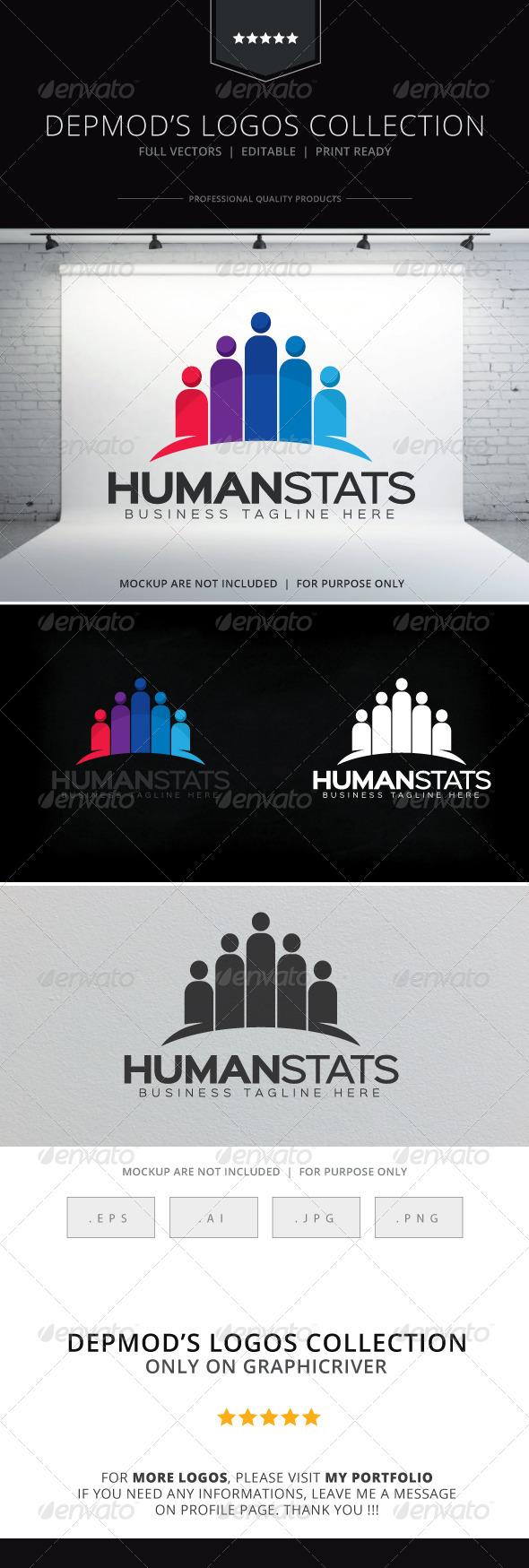GraphicRiver Human Stats Logo 8597928
