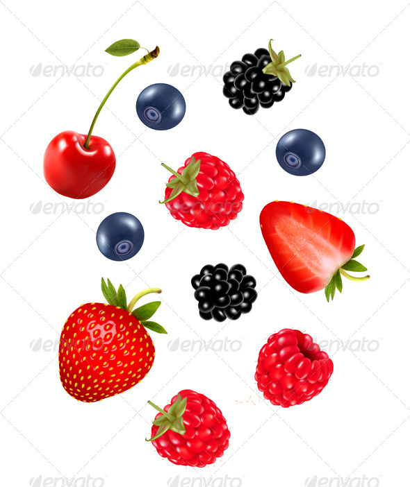GraphicRiver Set of Juicy Berries 8597932