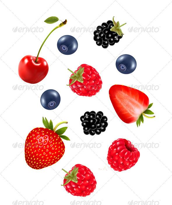 GraphicRiver Set of Juicy Berries 8597932