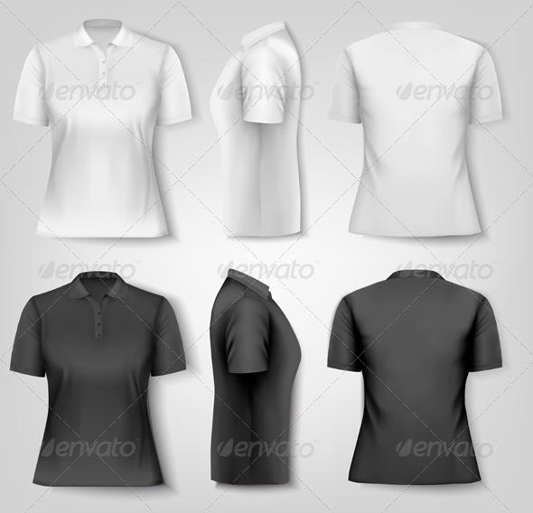 GraphicRiver Female Polo Shirts 8597955