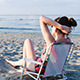 Girl Is Sunbathing On Her Chair - VideoHive Item for Sale