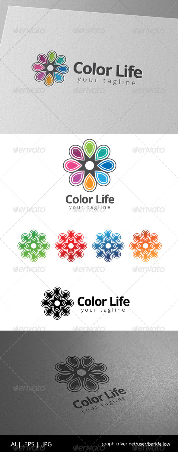GraphicRiver Eight Color Life Ornament Logo 8598043