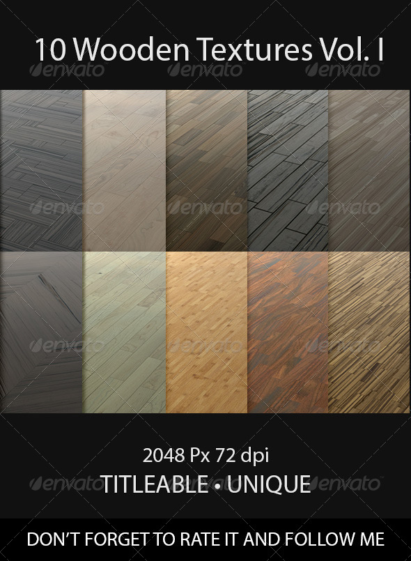GraphicRiver 10 Wooden Floor Tileable Texture Vol I 8598068