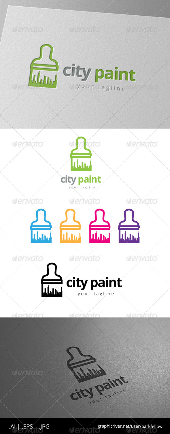 GraphicRiver City Building Paint Logo 8598089