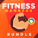 Health & Fitness Banner Bundle - 3 Sets - GraphicRiver Item for Sale