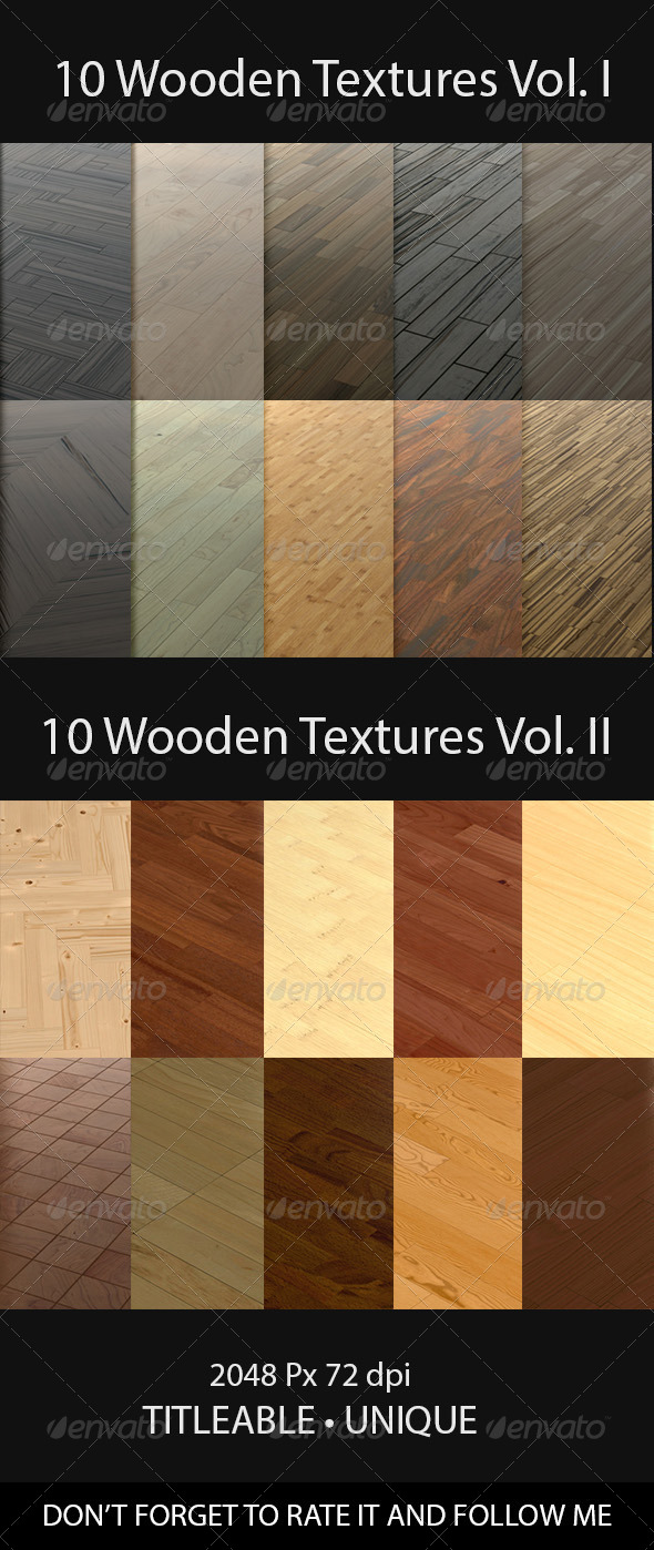 GraphicRiver 20 Wooden Floor Tileable Texture Vol I & Vol II 8598110