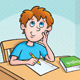 Kid Thinking What To Write - GraphicRiver Item for Sale
