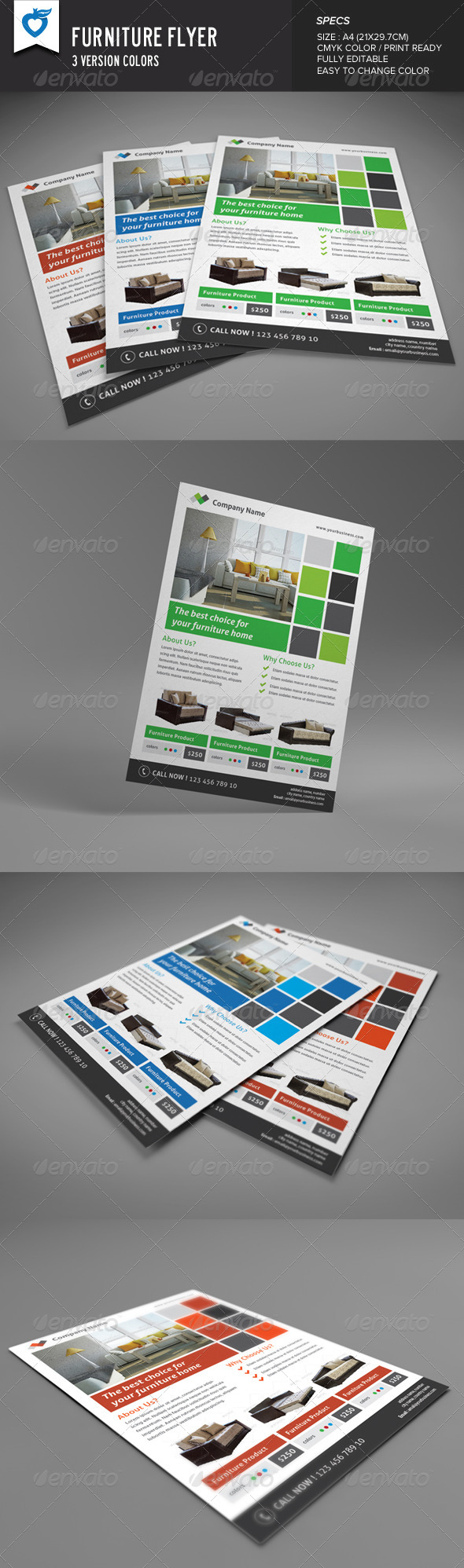 GraphicRiver Furniture Flyer 8598286