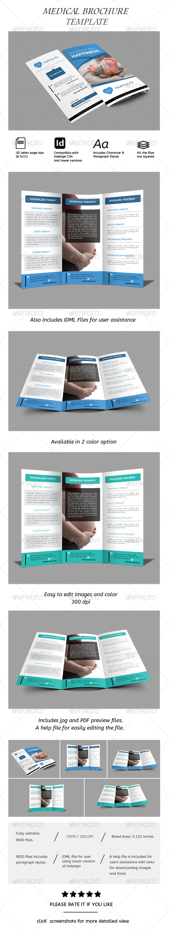 GraphicRiver Medical Tri-fold Brochure 8590642