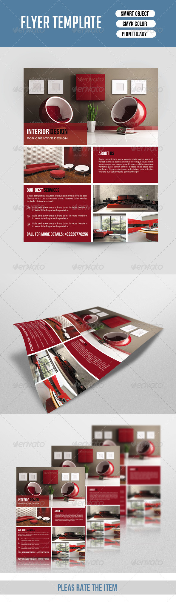 GraphicRiver Flyer Template for Interior Design-V111 8598521