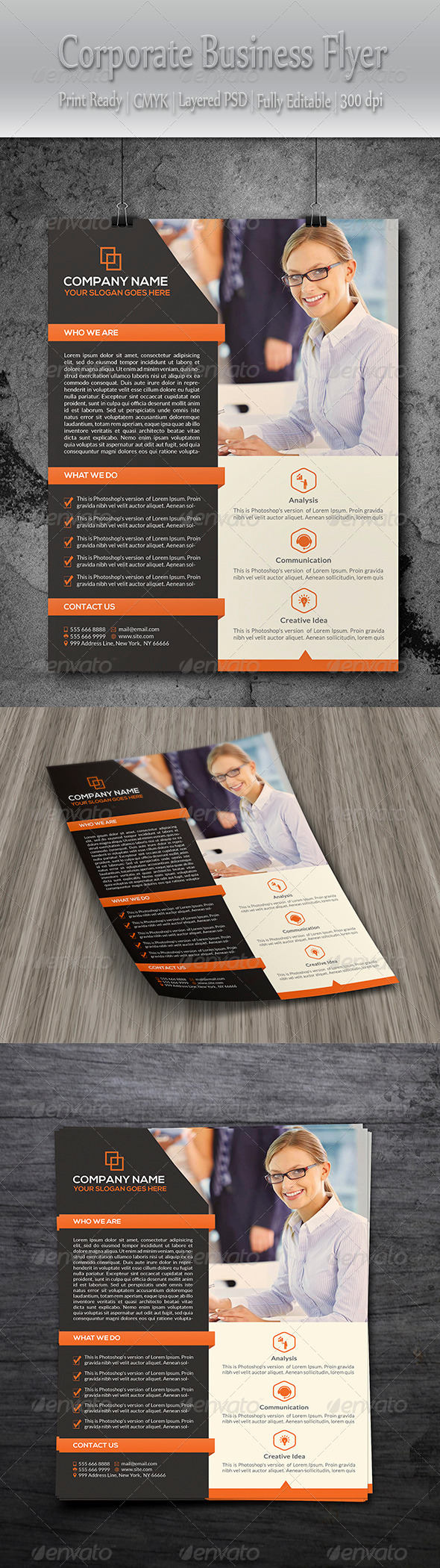 GraphicRiver Clean Corporate Flyer 8598525