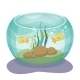 Cartoon Aquarium with Fishes - GraphicRiver Item for Sale