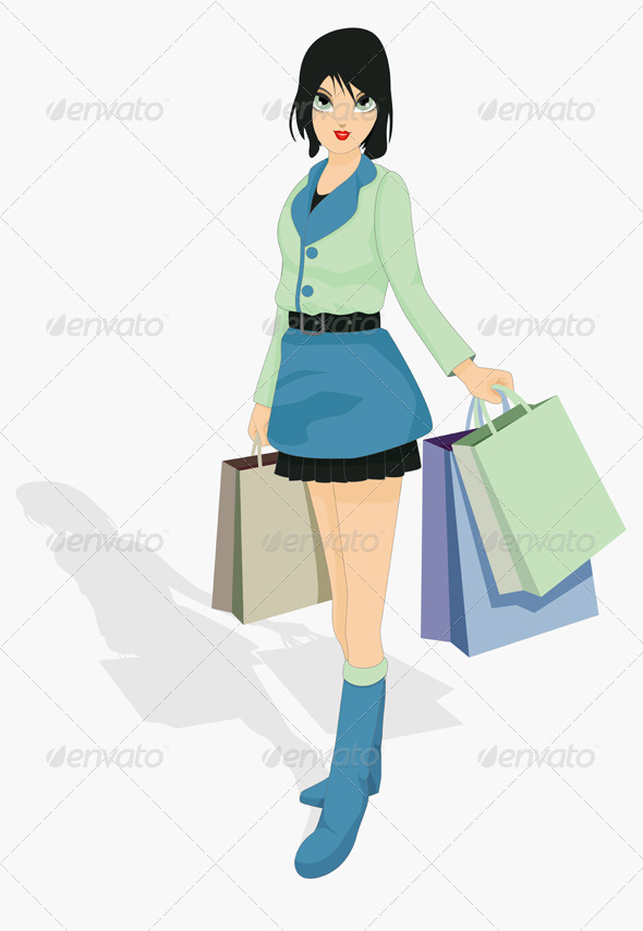 GraphicRiver Woman Shopping 8598543
