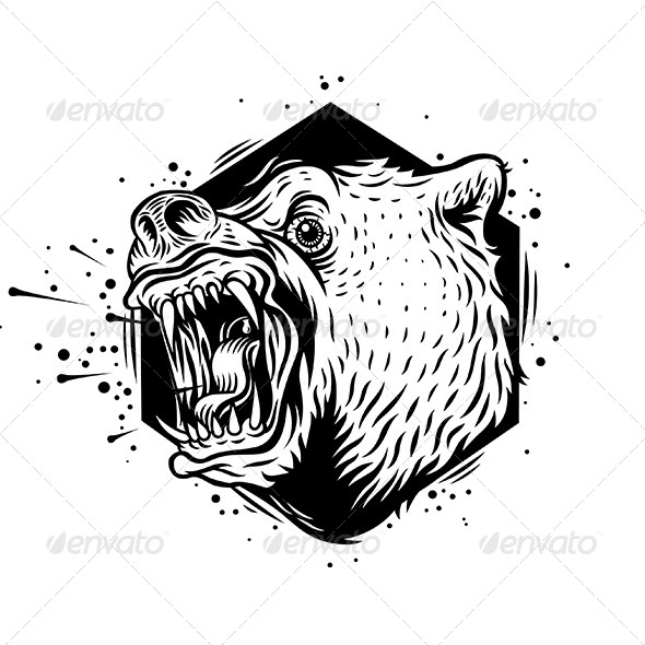 GraphicRiver Angry Bear 8598597