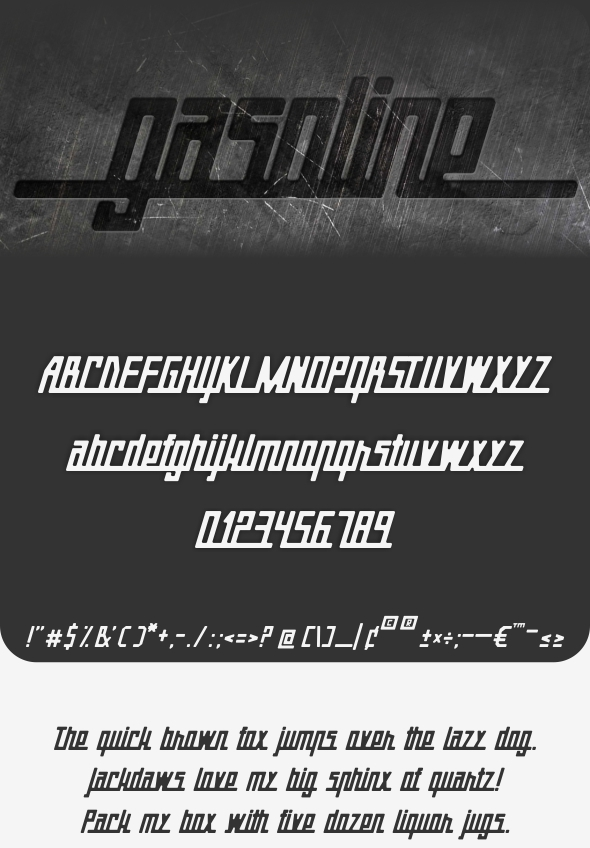 GraphicRiver Gasoline Typeface 8598622