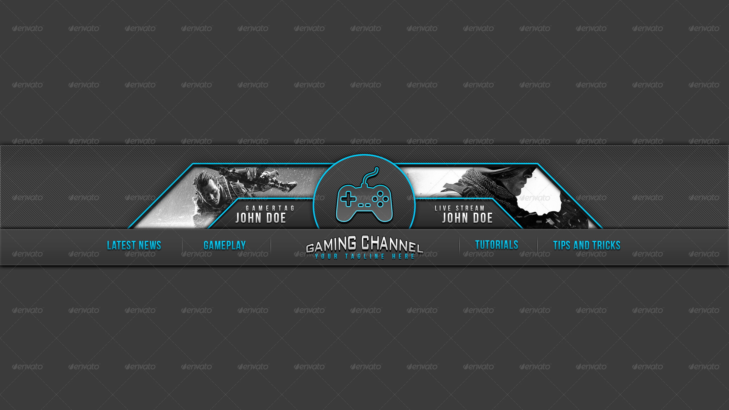 pro gaming youtube template banner 2 youtube with youtube channel