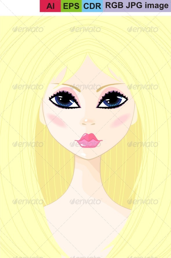 GraphicRiver Portrait of a Young Girl 8598653