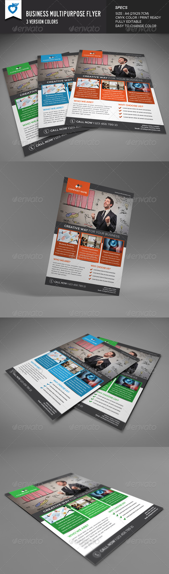 GraphicRiver Business Multipurpose Flyer 8599094