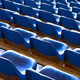 empty blue seats at sports stadium - PhotoDune Item for Sale