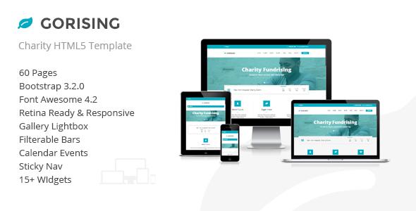 Gorising - Charity | Nonprofit | Fundraising HTML