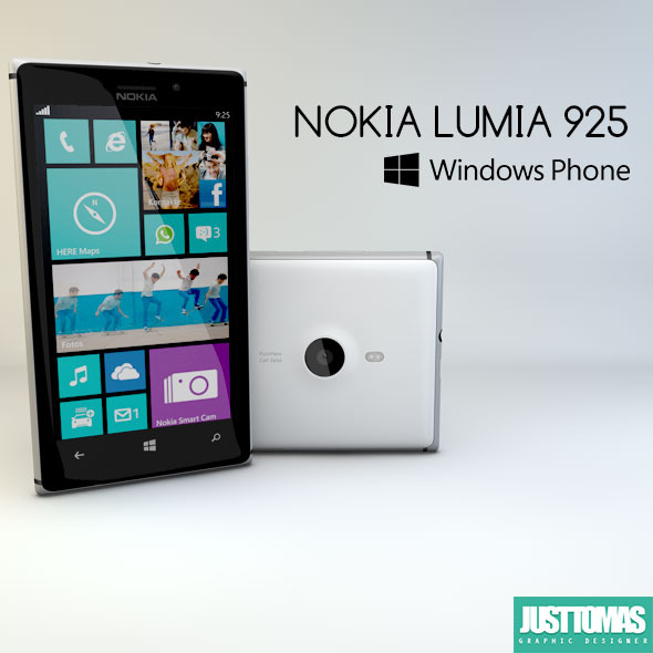 Nokia Lumia 925 - 3DOcean Item for Sale