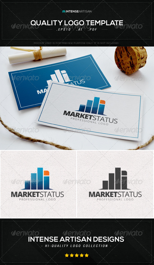 GraphicRiver Market Status Logo Template 8603074