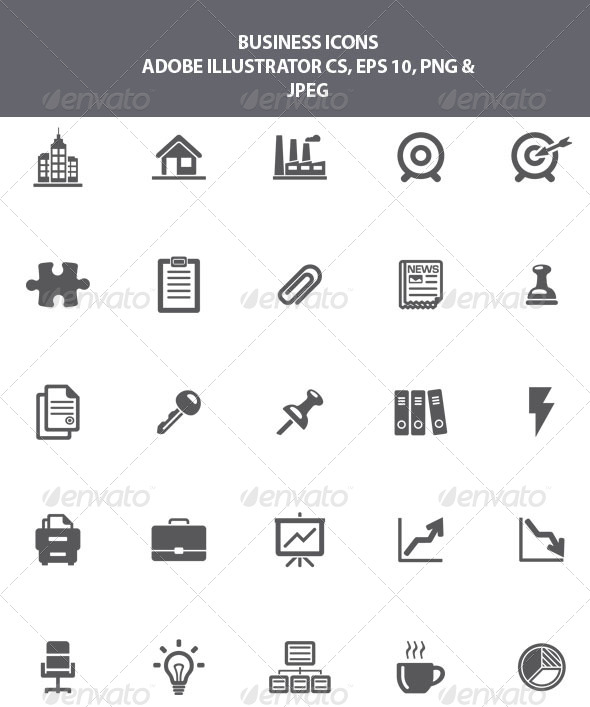 GraphicRiver Business Icons 8603077