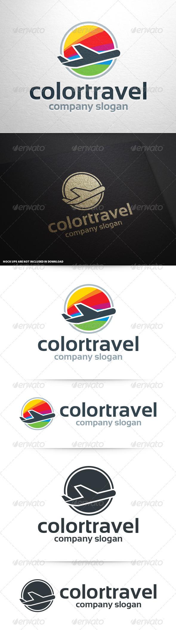 GraphicRiver Color Travel Logo Template 8603179