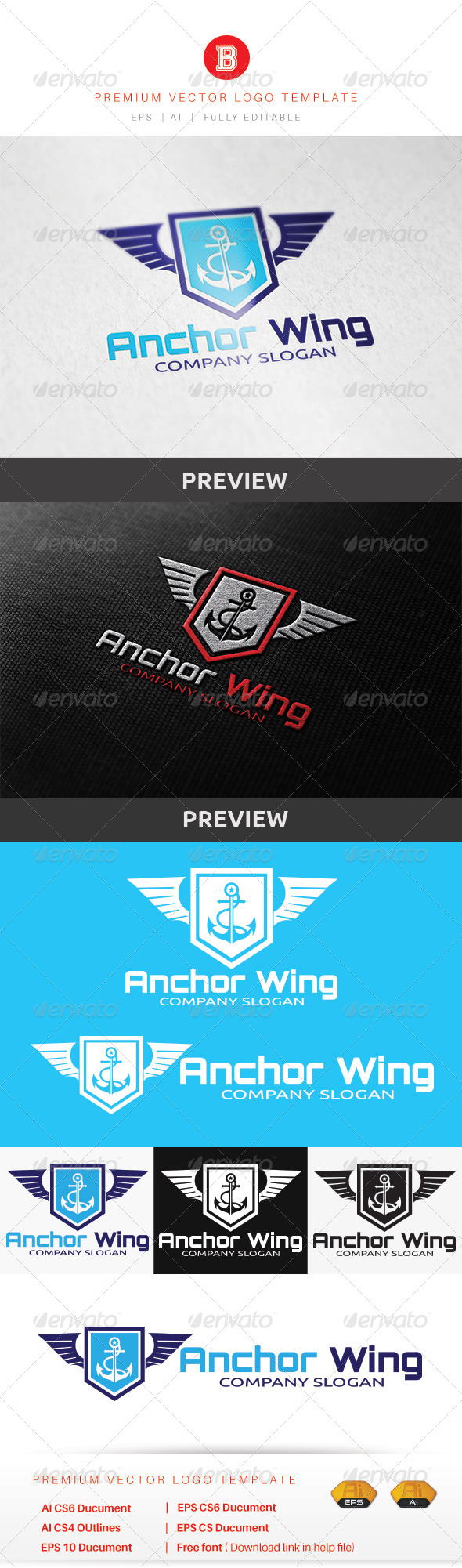 GraphicRiver Anchor Wing 8603205