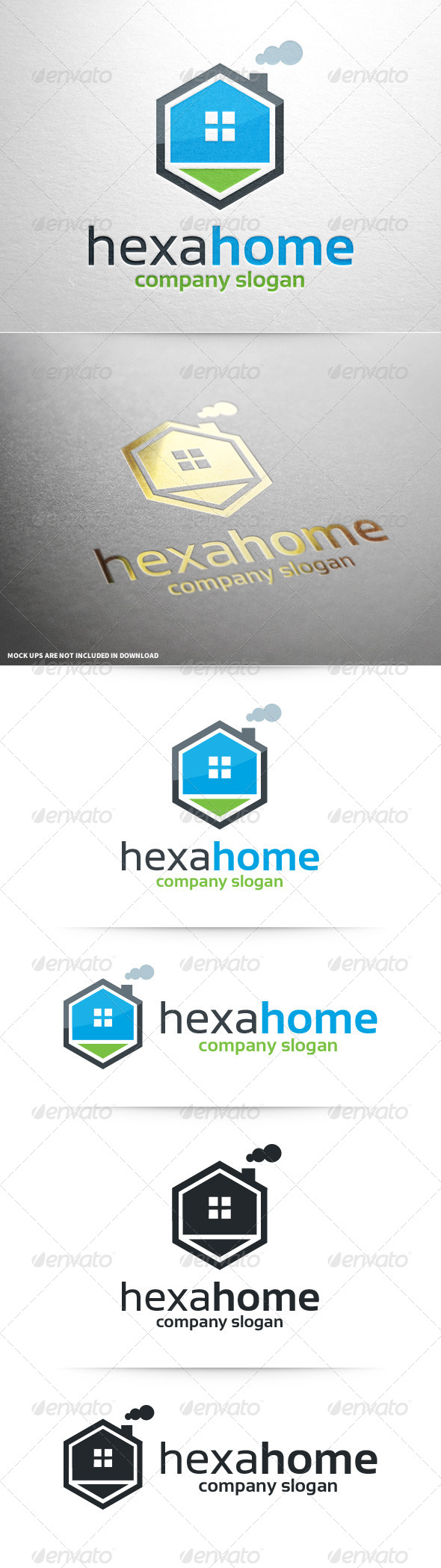 GraphicRiver Hexa Home Logo Template 8603215