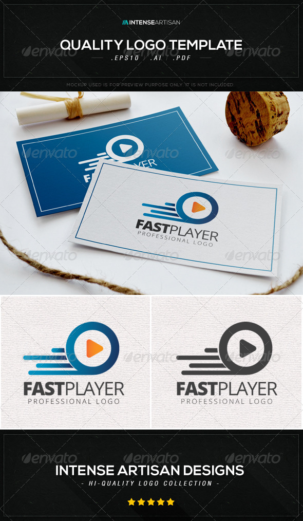 GraphicRiver Fast Player Logo Template 8603337
